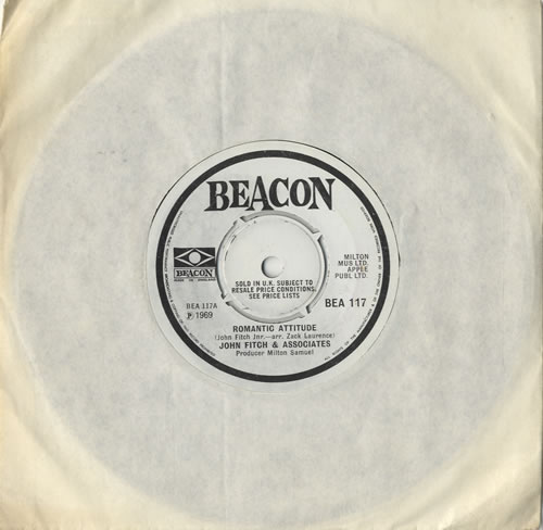"John Fitch & Associates Romantic Attitude 7"" vinyl single (7 inch record) UK J0F07RO474304"
