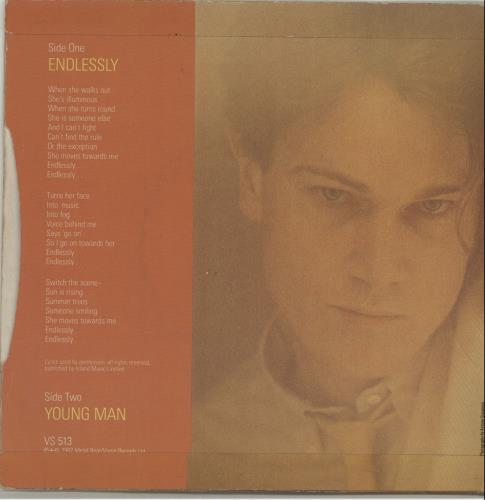 """John Foxx Endlessly 7"""" vinyl single (7 inch record) UK JFX07EN171507"""