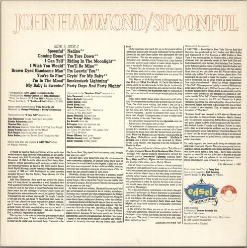 John Hammond Spoonful vinyl LP album (LP record) UK JHMLPSP696355