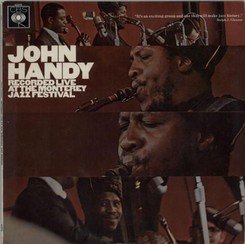 John Handy Recorded Live At The Monterey Jazz Festival vinyl LP album (LP record) UK JH6LPRE611988