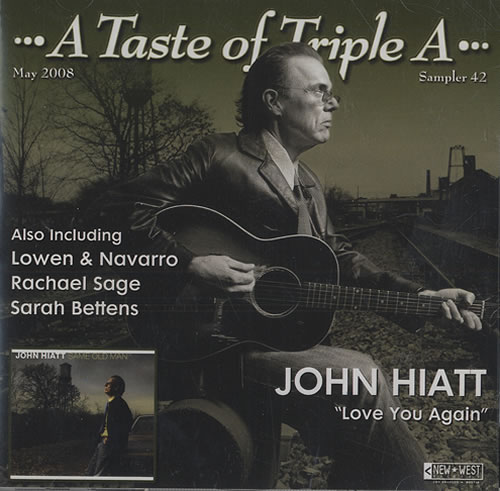 John Hiatt A Taste Of Triple A - Sampler 42 May 2008 2 CD album set (Double CD) US J-H2CAT440066