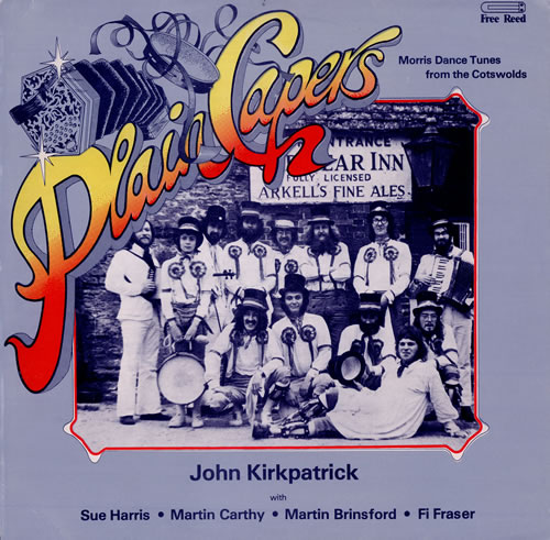 John Kirkpatrick Plain Capers + Insert vinyl LP album (LP record) UK J6LLPPL475982
