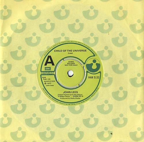 "John Lees Child Of The Universe - A Label 7"" vinyl single (7 inch record) UK J8607CH594460"