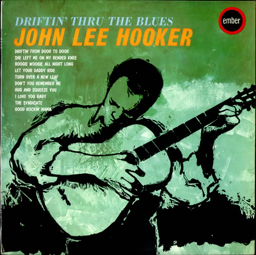 John Lee Hooker Driftin' Thru The Blues vinyl LP album (LP record) UK JLHLPDR528111