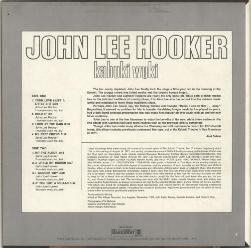 John Lee Hooker Kabuki Wuki vinyl LP album (LP record) US JLHLPKA457116