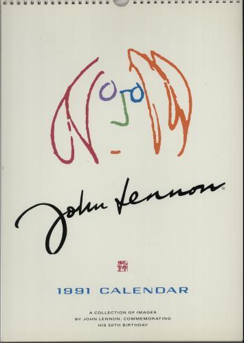 John Lennon 1991 Calendar Uk Calendar 646921 Calendar