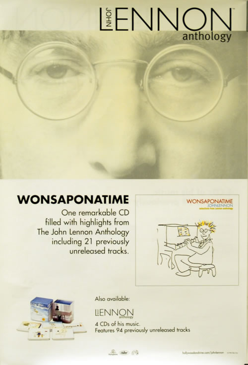 John Lennon Anthology/Wonsaponatime poster UK LENPOAN619675