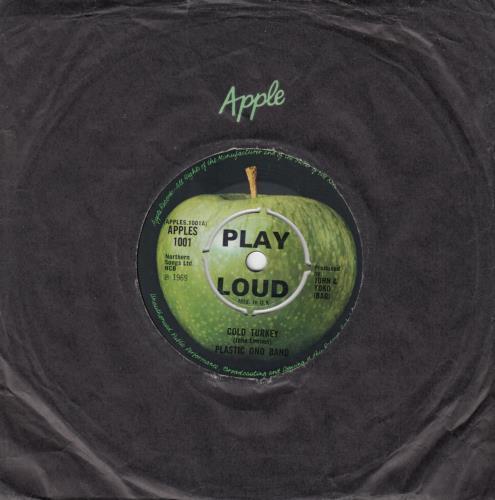 "John Lennon Cold Turkey - 4PR 7"" vinyl single (7 inch record) UK LEN07CO239676"