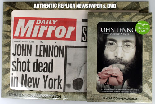John Lennon Death Of A Beatle Replica Newspaper Uk Dvd 562909