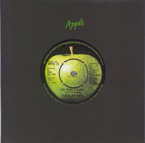 "John Lennon Give Peace A Chance - 3rd - 4pr 7"" vinyl single (7 inch record) UK LEN07GI459201"