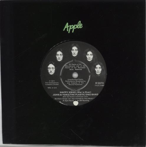 "John Lennon Happy Xmas (War Is Over) - 4pr 7"" vinyl single (7 inch record) UK LEN07HA239634"