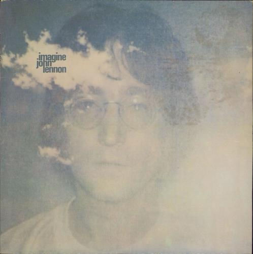 John Lennon Imagine + Poster - 80s vinyl LP album (LP record) UK LENLPIM541742