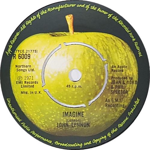"""John Lennon Imagine - 4pr 7"""" vinyl single (7 inch record) UK LEN07IM83700"""
