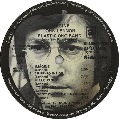 John Lennon Imagine - Quad vinyl LP album (LP record) Australian LENLPIM670838