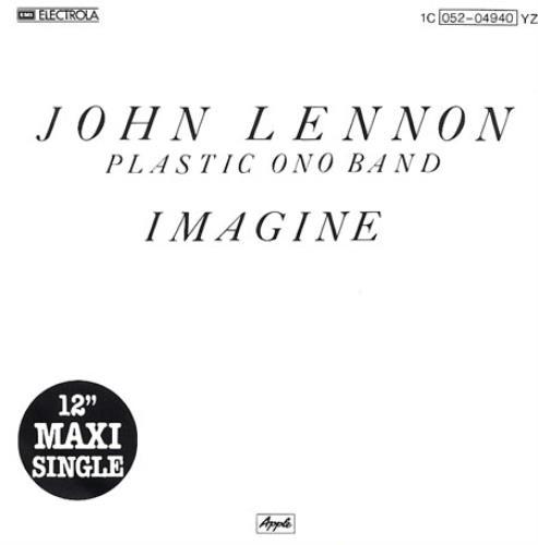 "John Lennon Imagine - Title Sleeve 12"" vinyl single (12 inch record / Maxi-single) German LEN12IM57381"