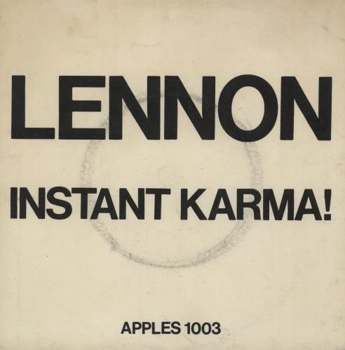 "John Lennon Instant Karma! - P/S - VG 7"" vinyl single (7 inch record) UK LEN07IN595289"