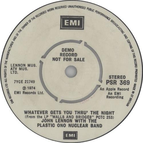 """John Lennon Interview With John Lennon By Bob Mercer 7"""" vinyl single (7 inch record) UK LEN07IN539274"""
