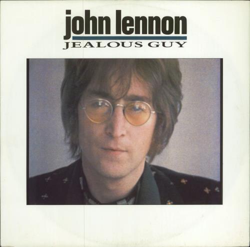 "John Lennon Jealous Guy 12"" vinyl single (12 inch record / Maxi-single) UK LEN12JE73316"