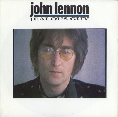 "John Lennon Jealous Guy 7"" vinyl single (7 inch record) UK LEN07JE75345"