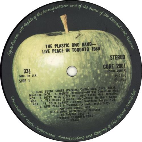 John Lennon Live Peace In Toronto 1969 vinyl LP album (LP record) UK LENLPLI613182