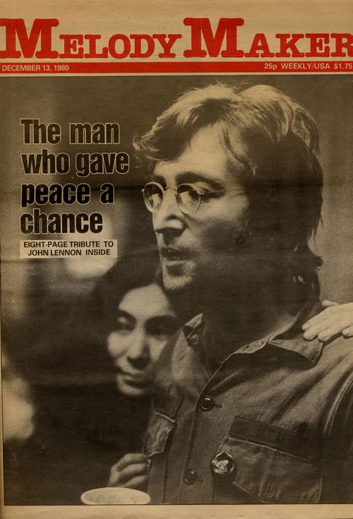 John Lennon Melody Maker Magazine 1980 Memorial Issue Uk