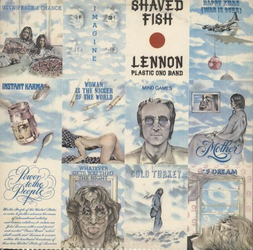 John Lennon Shaved Fish 2nd Uk Vinyl Lp Album Lp Record