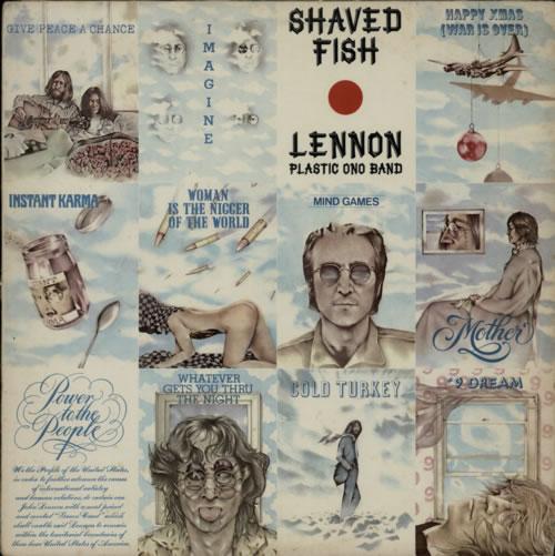 John Lennon Shaved Fish vinyl LP album (LP record) South African LENLPSH609701