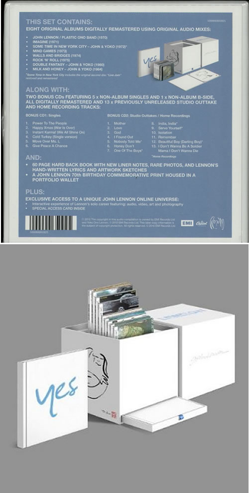 John Lennon Signature Box - Sealed CD Album Box Set UK LENDXSI518014
