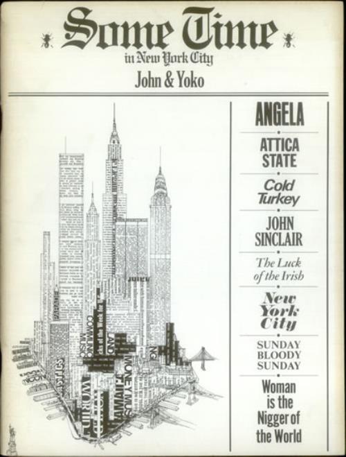 John Lennon Sometime In New York City US sheet music (541709) SONG BOOK