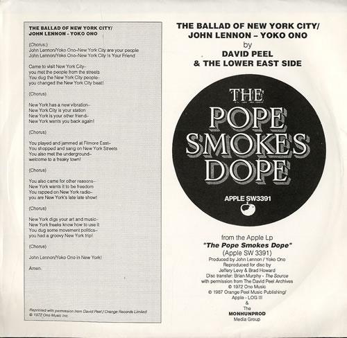 "John Lennon The Ballad Of New York City 7"" vinyl single (7 inch record) US LEN07TH552232"