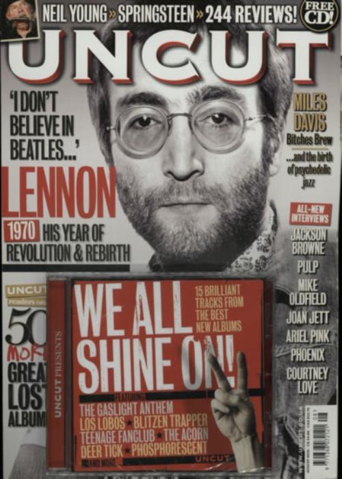 John Lennon Uncut - August 2010 + CD magazine UK LENMAUN603329