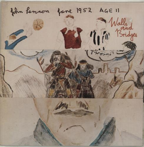 John Lennon Walls And Bridges - 1st - Complete - EX vinyl LP album (LP record) UK LENLPWA579561