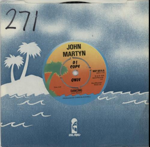 "John Martyn Dancing 7"" vinyl single (7 inch record) UK JMY07DA163504"