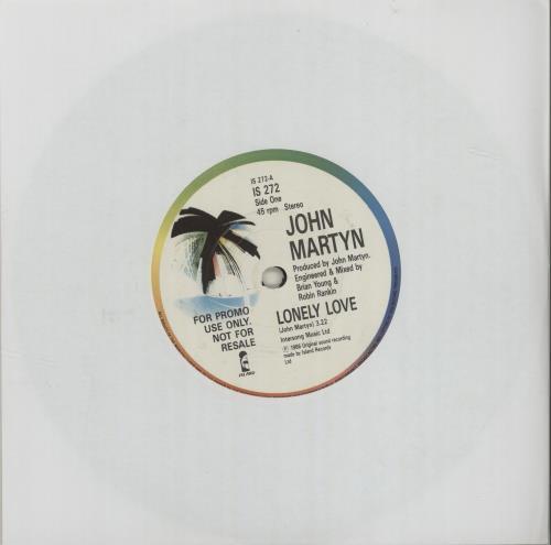 "John Martyn Lonely Love 7"" vinyl single (7 inch record) UK JMY07LO680547"