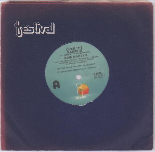 "John Martyn Over The Rainbow 7"" vinyl single (7 inch record) New Zealand JMY07OV679690"