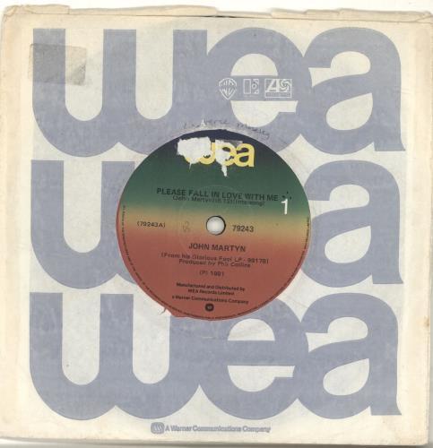 "John Martyn Please Fall In Love With Me 7"" vinyl single (7 inch record) New Zealand JMY07PL689243"