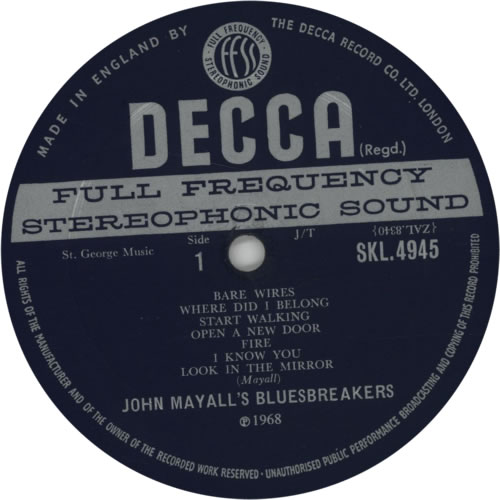 John Mayall Bare Wires - 1st vinyl LP album (LP record) UK JOMLPBA257914