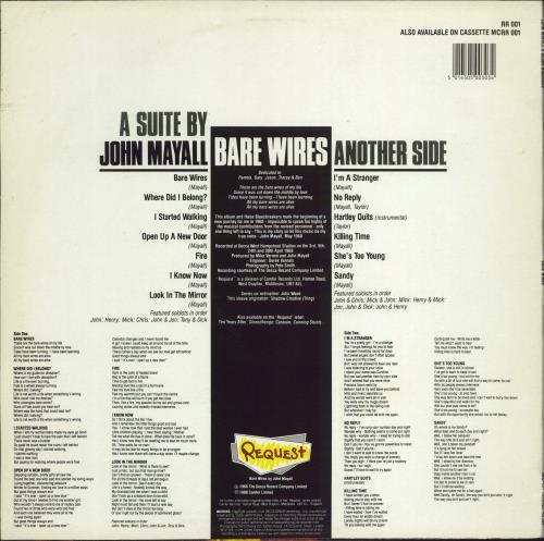 John Mayall Bare Wires vinyl LP album (LP record) UK JOMLPBA770792