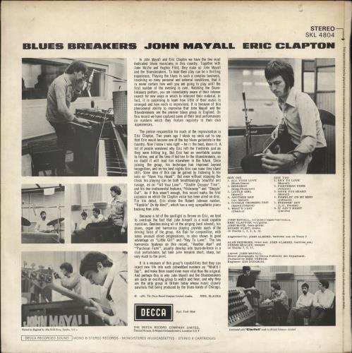 John Mayall Blues Breakers - 1st (A) vinyl LP album (LP record) UK JOMLPBL639439