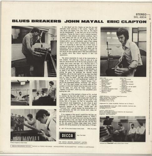 John Mayall Blues Breakers - 80s UK vinyl LP album (LP record)