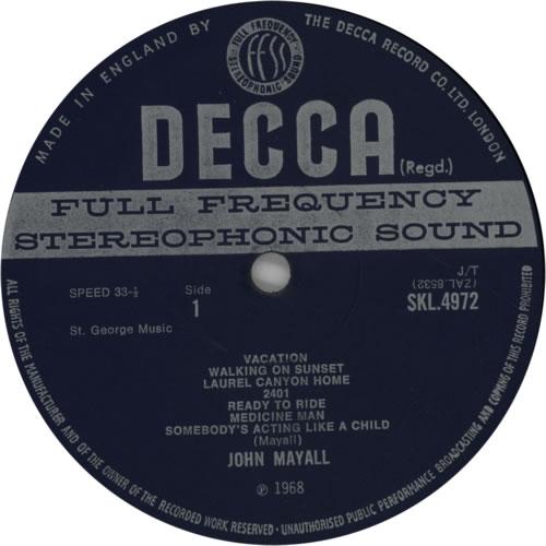 John Mayall Blues From Laurel Canyon - 2nd - EX vinyl LP album (LP record) UK JOMLPBL605471