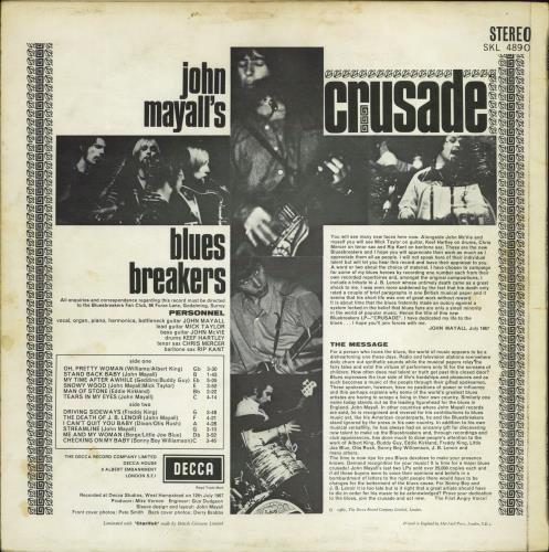 John Mayall Crusade - 1st Deep Groove vinyl LP album (LP record) UK JOMLPCR702029