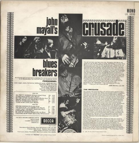 John Mayall Crusade - 1st vinyl LP album (LP record) UK JOMLPCR692117