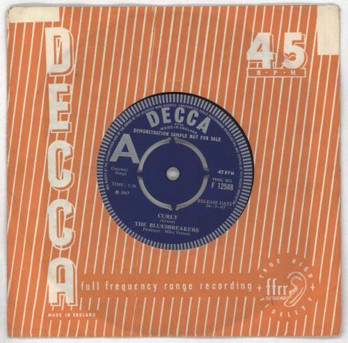 "John Mayall Curly - A Label - VG 7"" vinyl single (7 inch record) UK JOM07CU730318"