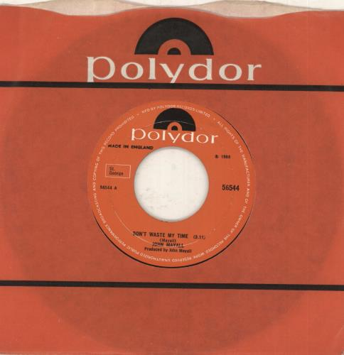 """John Mayall Don't Waste My Time - wide centre 7"""" vinyl single (7 inch record) UK JOM07DO591060"""
