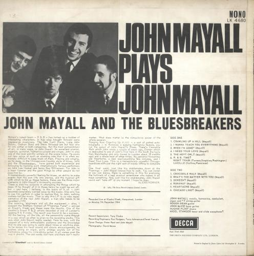 John Mayall John Mayall Plays John Mayall - 1st vinyl LP album (LP record) UK JOMLPJO144609