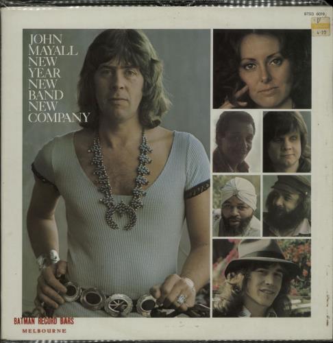 John Mayall New Year, New Band, New Company vinyl LP album (LP record) Australian JOMLPNE654446