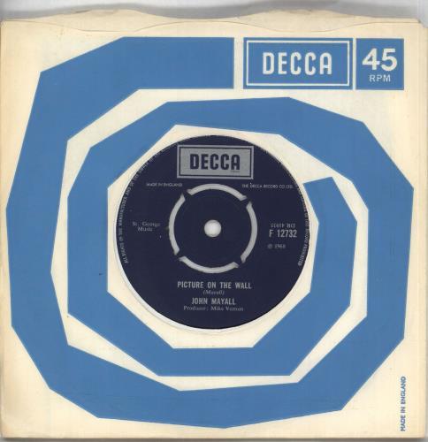 "John Mayall Picture On The Wall 7"" vinyl single (7 inch record) UK JOM07PI188624"