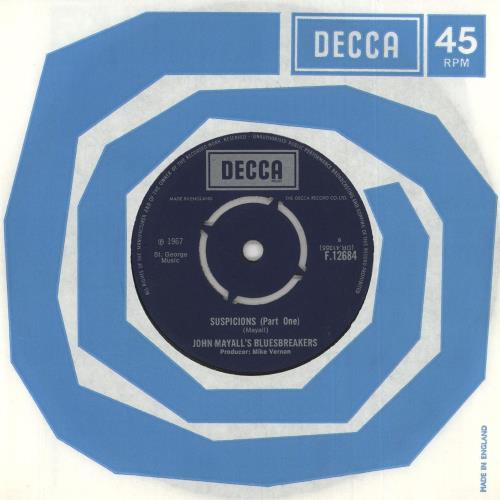 "John Mayall Suspicions 7"" vinyl single (7 inch record) UK JOM07SU512668"