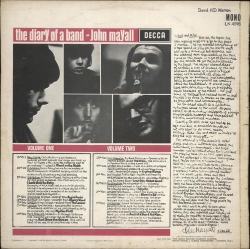 John Mayall The Diary Of A Band - WOS vinyl LP album (LP record) UK JOMLPTH766961